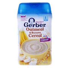 Gerber 嘉宝 【免税店】2段谷物燕麦香蕉米粉(227g)