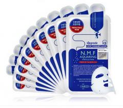 Clinie可莱丝韩国正品 NMF针剂水库面膜贴10片保湿补水 10片/盒