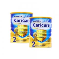 新西兰可瑞康Karicare进口婴幼儿营养奶粉2段保税直邮2罐包邮 900g*2