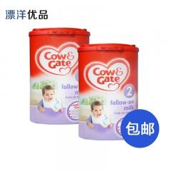 英国牛栏牛奶粉 2段6-12月保税仓直邮两罐包邮 900g*2