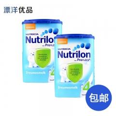 荷兰本土牛栏Nutrilon进口婴幼儿营养奶粉4段(1-2周岁)保税仓直邮两罐包邮 800g*2