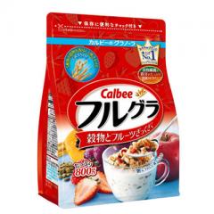 日本进口Calbee/卡乐比营养早餐 水果颗粒果仁谷物800g冲饮麦片