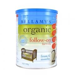 【保税区直邮】 澳大利亚Bellamy's贝拉米有机婴儿牛奶粉2段(6-12个月宝宝)900g 2段