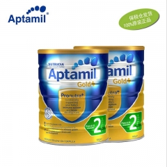 【保税区直发】澳洲Aptamil爱他美金装婴幼儿奶粉2段(6-12个月宝宝) 900g 【2罐起发】