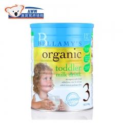 贝拉米澳洲版Bellamys 3/三段婴幼儿配方有机奶粉900g 1-3岁 900g/罐