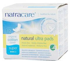 英国进口卫生巾NATRACARE奈卡纯天然棉超薄护翼-日用量多型12片 12片